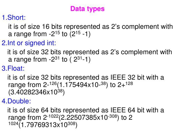 Data types