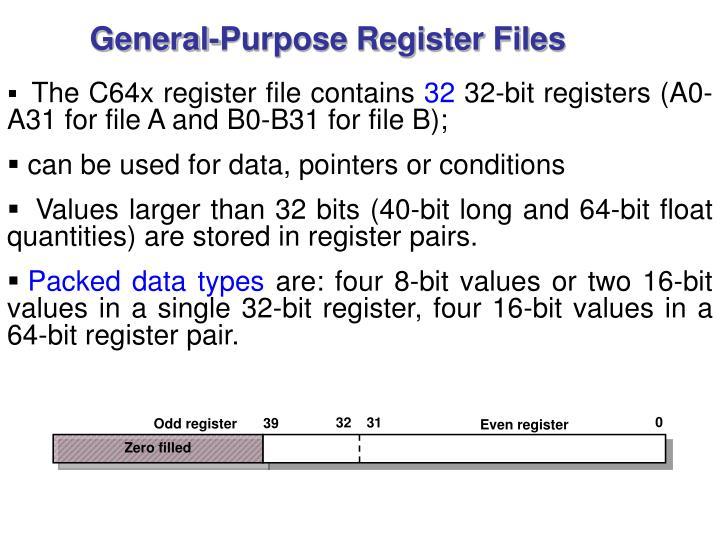 General-Purpose Register Files