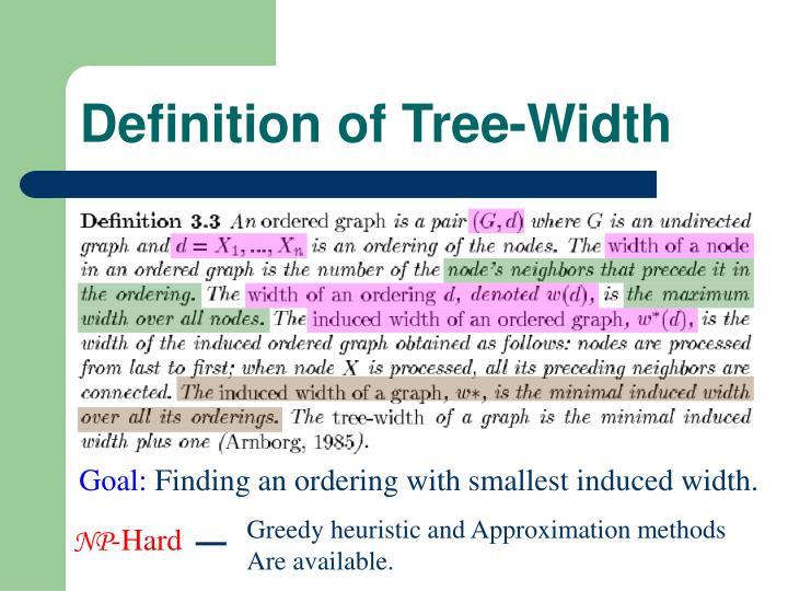 Definition of Tree-Width