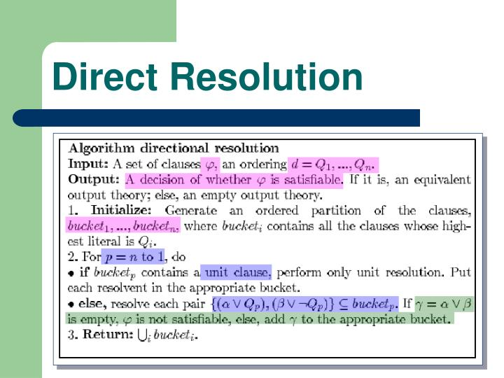Direct Resolution