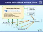 the nih neurobiobank for tissue access1