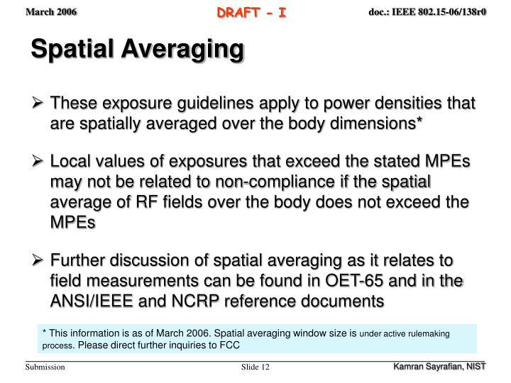 Spatial Averaging