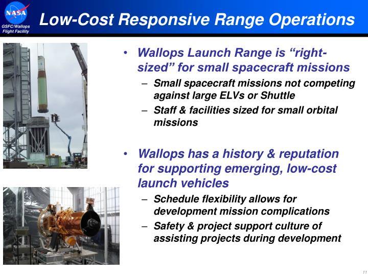 Low-Cost Responsive Range Operations