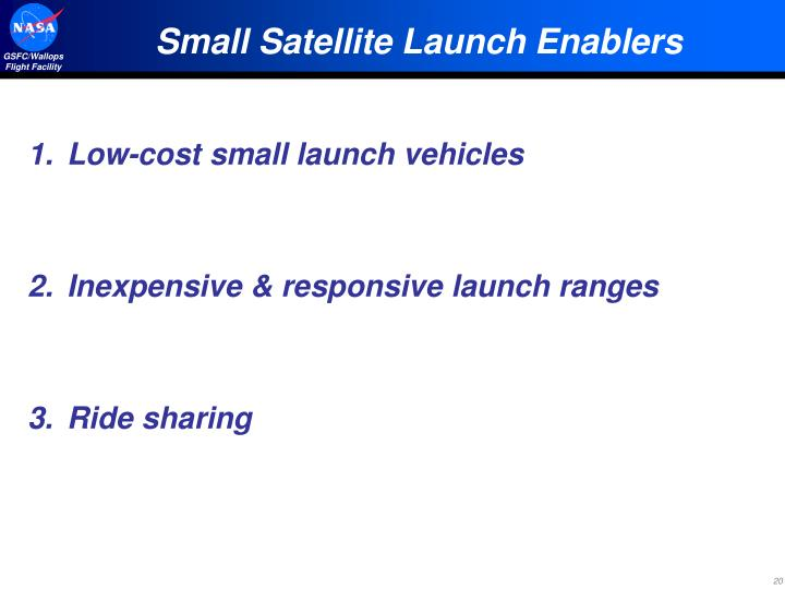Small Satellite Launch Enablers