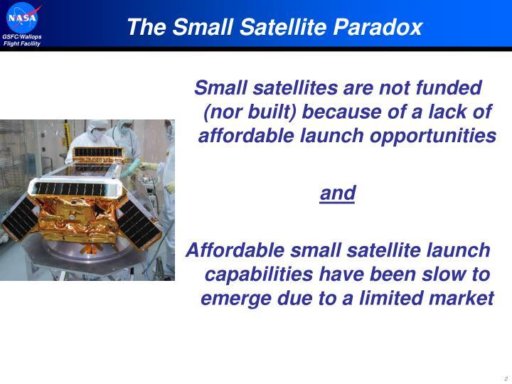 The Small Satellite Paradox