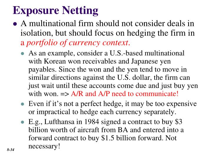 Exposure Netting