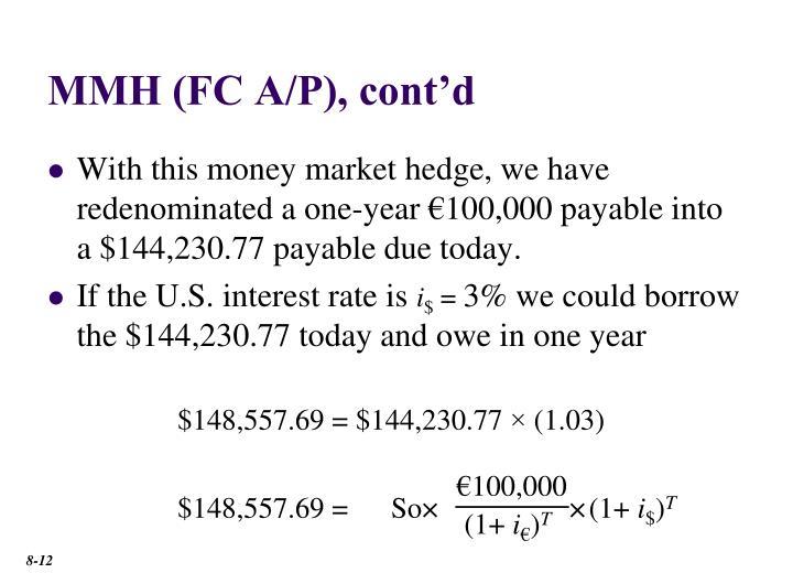 MMH (FC A/P), cont'd