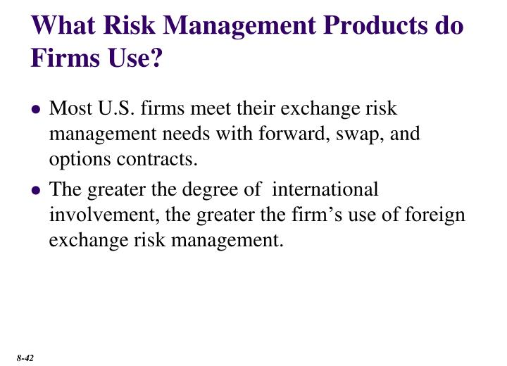 What Risk Management Products do Firms Use?