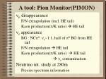 a tool pion monitor pimon