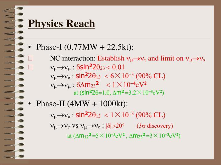 Physics Reach