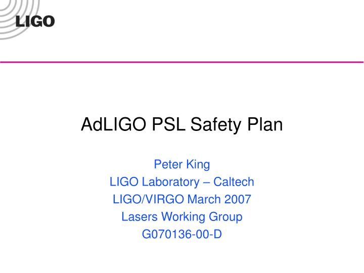 Adligo psl safety plan