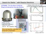 search for sterile with reactor neutrinos