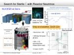search for sterile with reactor neutrinos1