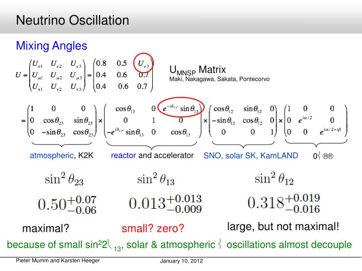 Neutrino Oscillation