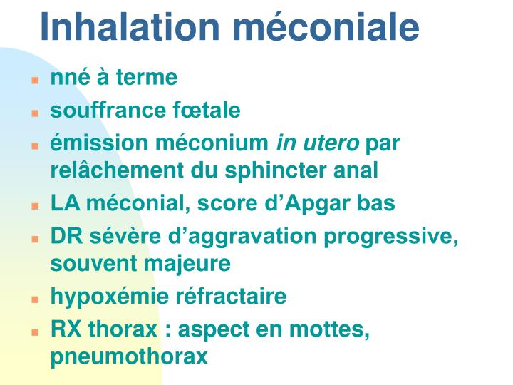 Inhalation méconiale