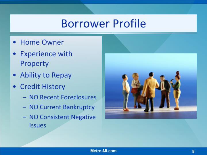 Borrower Profile