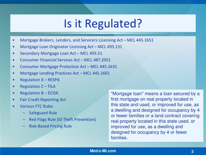 Is it Regulated?