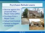 purchase rehab loans