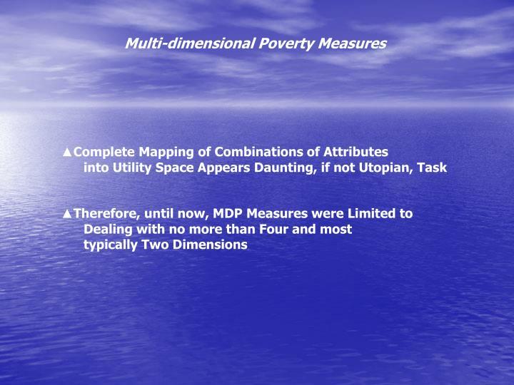 Multi-dimensional Poverty Measures