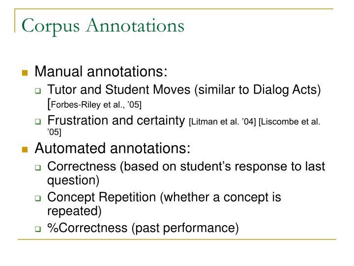 Corpus Annotations