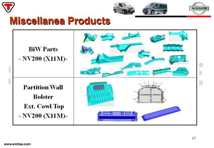 Miscellanea Products
