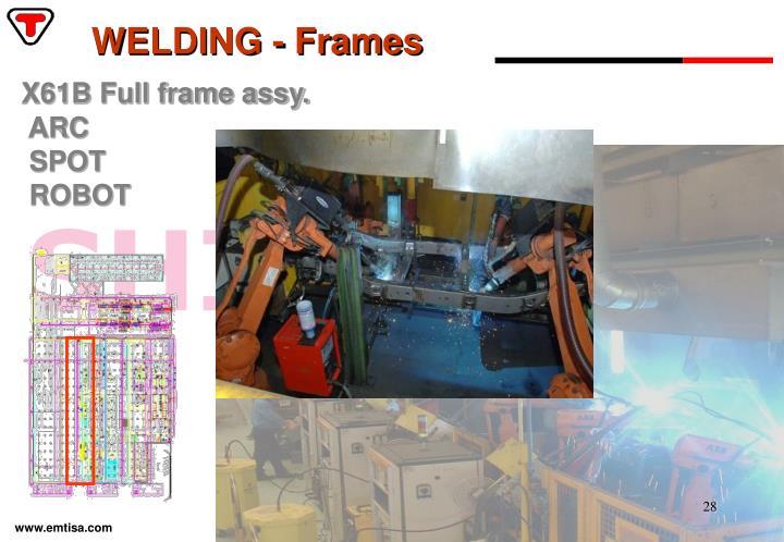 WELDING - Frames