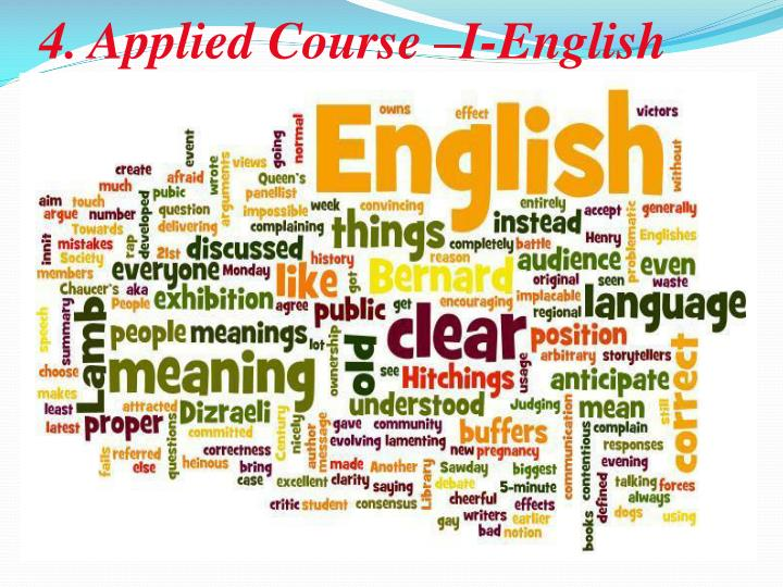 4. Applied Course –I-English