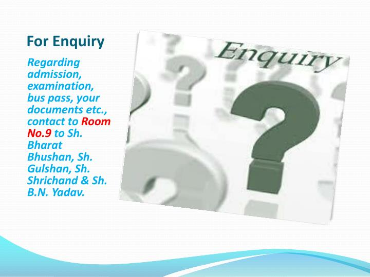 For Enquiry