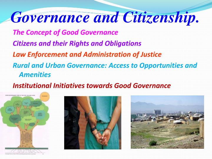 Governance and Citizenship.