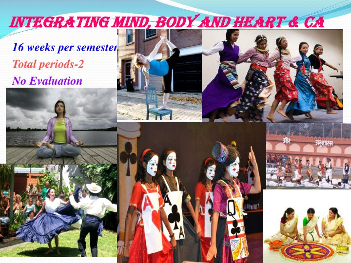 Integrating Mind, Body and Heart & CA