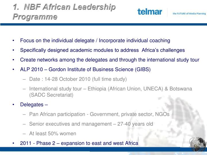 1.  NBF African Leadership Programme