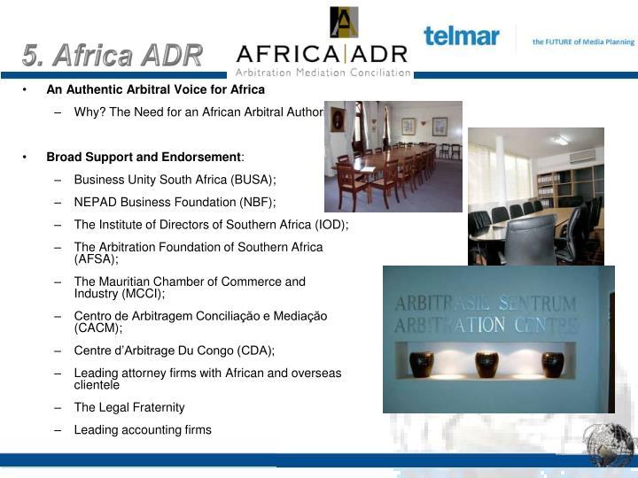 5. Africa ADR