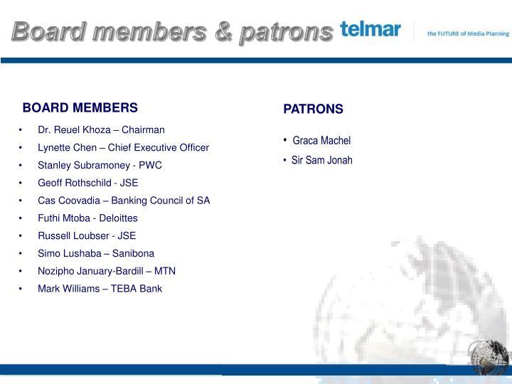 Board members & patrons