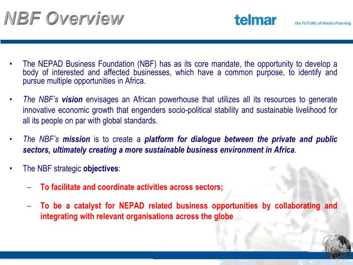 NBF Overview