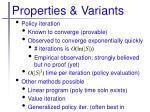 properties variants