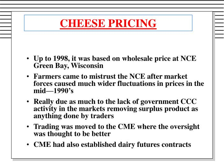 CHEESE PRICING