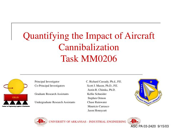 Quantifying the Impact of Aircraft Cannibalization