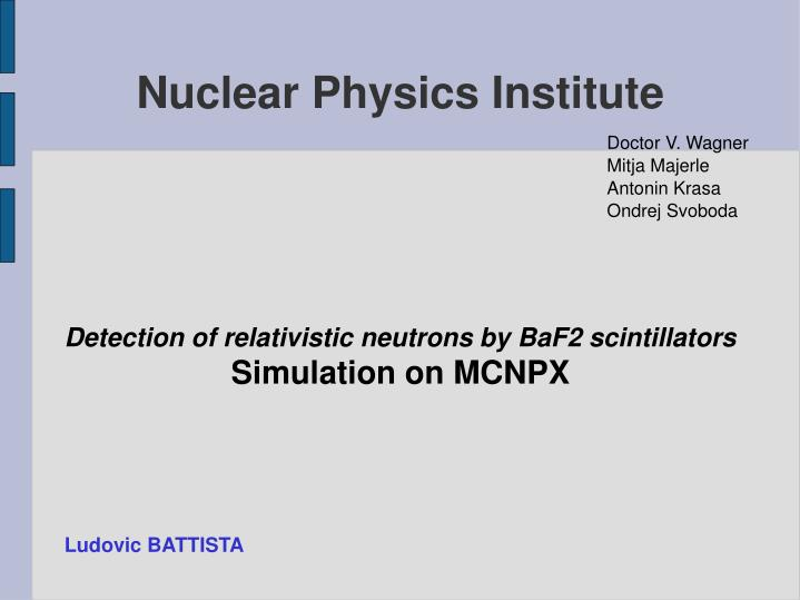 detection of relativistic neutrons by baf2 scintillators simulation on mcnpx