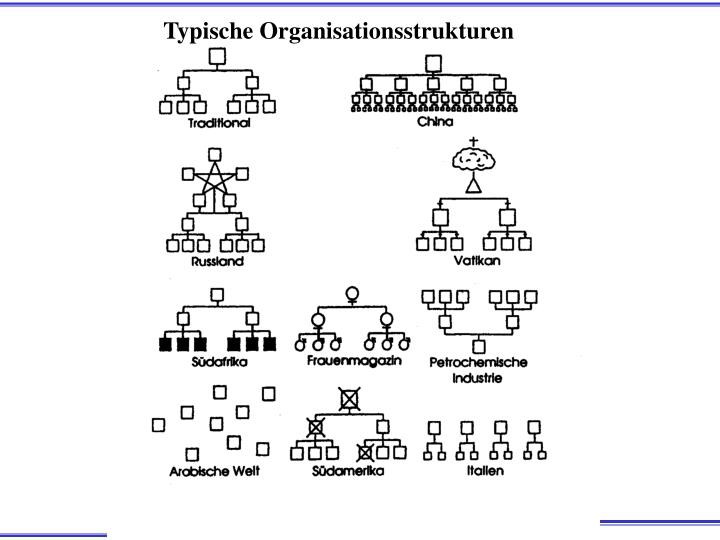 Typische Organisationsstrukturen