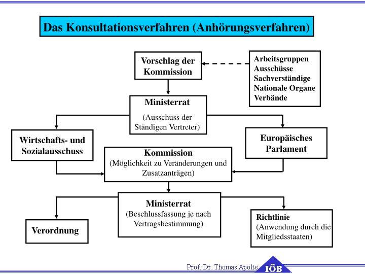 Das Konsultationsverfahren (Anhörungsverfahren)