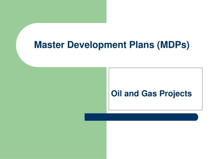 master development plans mdps