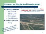 planned vs unplanned development