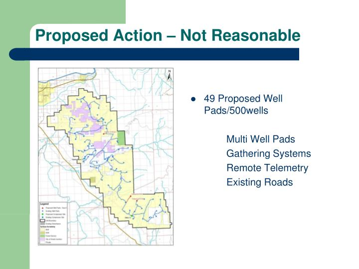 49 Proposed Well Pads/500wells