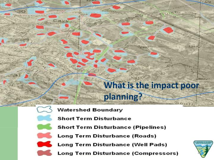 What is the impact poor planning?
