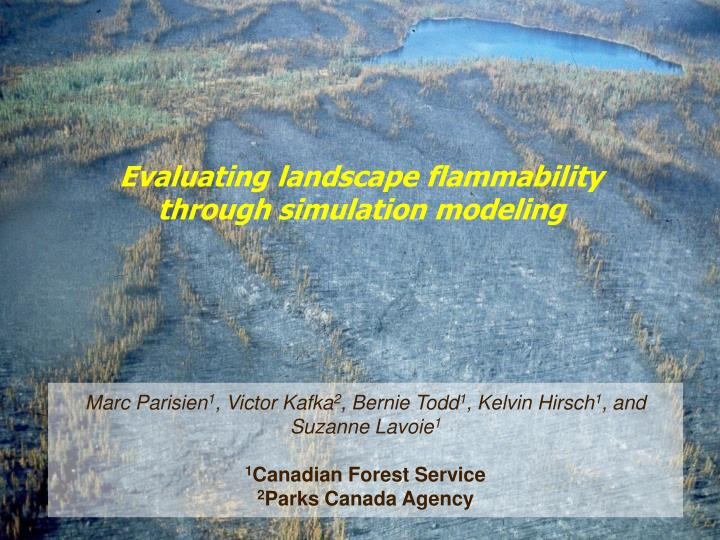 Evaluating landscape flammability through simulation modeling