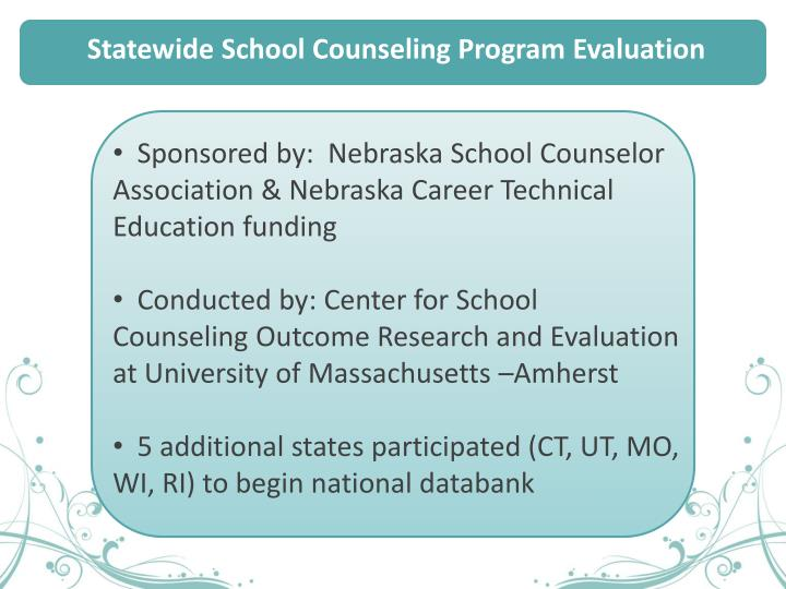 Statewide School Counseling Program Evaluation