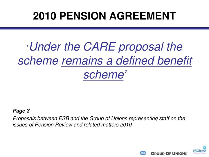 2010 PENSION AGREEMENT