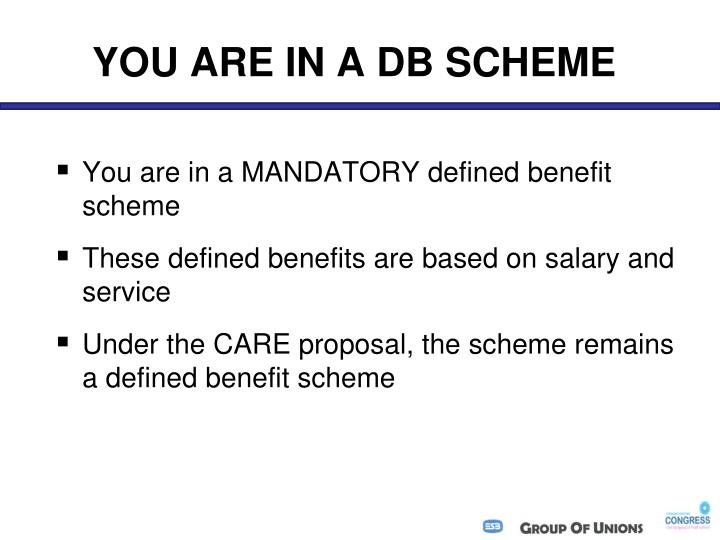 YOU ARE IN A DB SCHEME