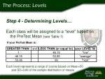 the process levels
