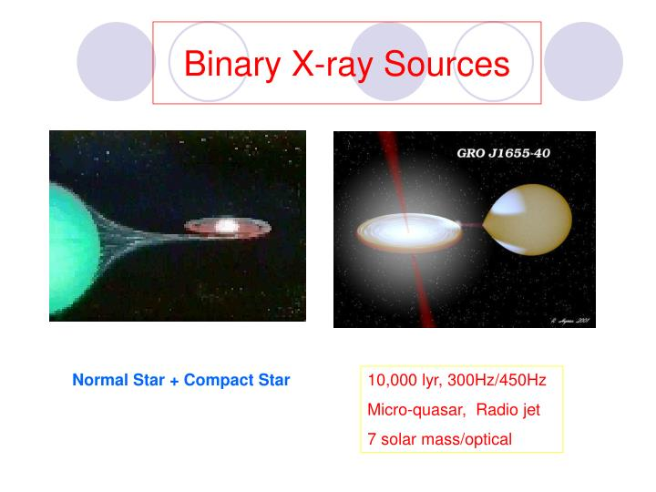 Binary x ray sources
